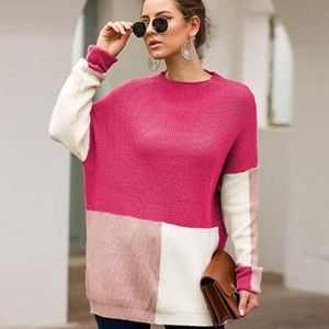 GIDGET Oversized Color Block Sweater